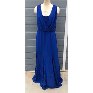 Bisou Bisou Michele Bohbot blue maxi dress